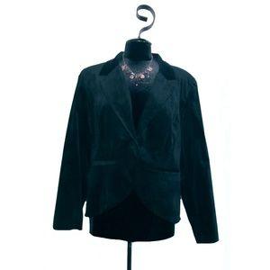 Mossimo Black Stretch Velvet Jacket Size XXL NWOT